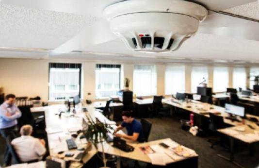 alarme incendie dans des bureaux